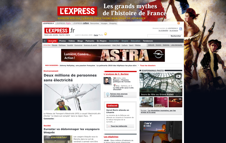 Habillage pour le numéro spécial de Lexpress