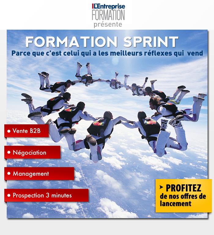 Emailing pour le partenariat Formation Sprint et lentreprise.fr